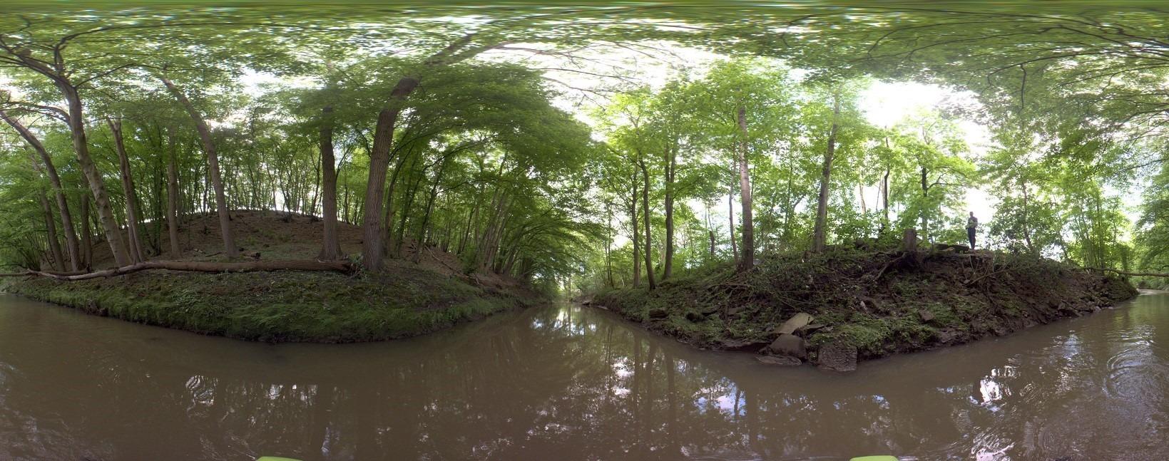 Panoramafoto Fluss